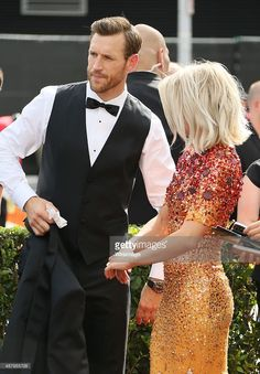 Julianne Hough and Brooks Laich attend the 2015 Creative Arts Emmy Awards at Microsoft Theater on September 12, 2015 in Los Angeles, California.