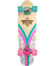 "Take to the streets with the tropics in mind with the Flashback Flamingo cruiser complete from Dusters. This 28"" cruiser from Dusters features your favorite pink bird on the bottom while the custom V-Ply top offers a top layer that is not just pretty but"