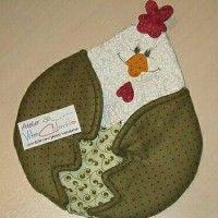 Eu amo costurar | Inspiração – Pegador de panela de galinha