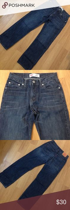 5️⃣1️⃣4️⃣ Levi's Blue Jeans 👖 Excellent condition, worn only twice. Adult 29X29, kids 18Reg Levi's Jeans Straight