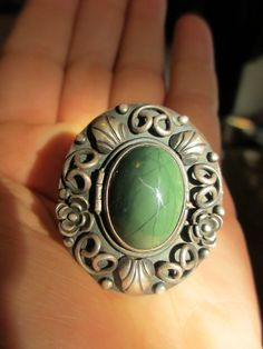 Vintage Huge Taxco Sterling Poison Ring by PaisleyBabylon on Etsy