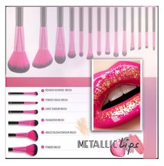 """#METALLIC LIPS"" by thefashiongirl16 ❤ liked on Polyvore featuring beauty, NARS Cosmetics, MDMflow, Eve Lom and metalliclips"