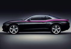 Um, pink stripe on black Camaro? I say YES! or better still a black stripe on a pink Camaro!