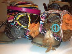 DIY boho boots! Super fun and easy