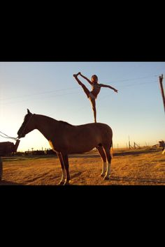 I can pull a heel stretch, but my horse wouldn't let me do this!