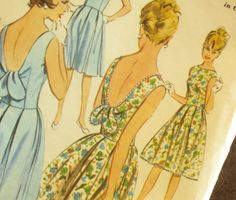 Early 60's Vintage Summer Dress Pattern Butterick by EmSewCrazy, $18.00