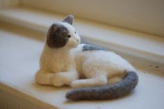 Sadie - a Needle Felted Cat by rootcrop54, via Flickr