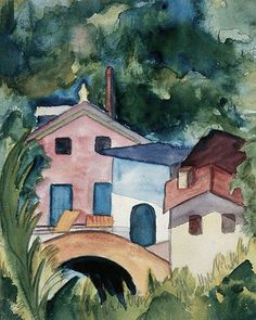 Official site of the Museum and the Fondazione Hermann Hesse Montagnola. Hermann Hesse, Watercolor Pictures, Watercolor Paintings, Watercolor Ideas, Watercolors, Landscape Paintings, Landscapes, Max Ernst, Tolkien