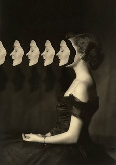 Vintage Portraits Duplicated in Surreal Collages by Matthieu Bourel - My Modern Met