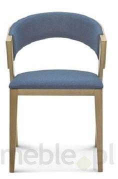 Drewniane krzesło z opcją tapicerowanego siedziska B-1404, Fameg - Meble
