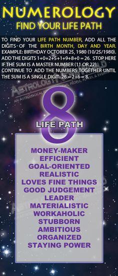 Numerology: Life Path #8 #MediumMaria