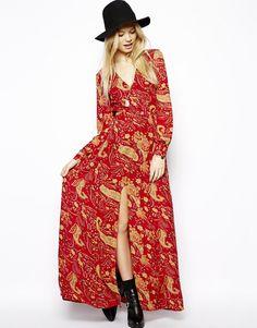 ASOS   ASOS Maxi Dress In Paisley Print at ASOS