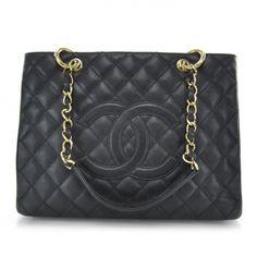 fe577f625bd7 CHANEL Caviar Grand Shopping Tote GST Black. Chanel Caviar BagChanel ...