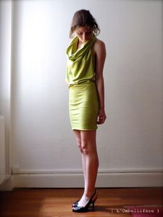 L'ombellifère : DIY la robe tube et drapée