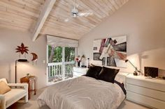 white washed, wood ceilings |