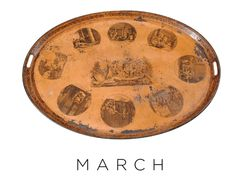 French Tole Tray From March