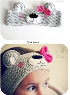 47 Super Ideas for crochet kids headbands hair accessories Crochet Amigurumi, Crochet Bear, Love Crochet, Crochet Dolls, Crochet Lace, Crochet Stitches, Crochet Patterns, Hat Patterns, Knitting Patterns