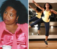 Zumba Transformed My Body--I lost 90 Pounds and Counting! - : Courtesy of Natombi Simpson / Tom Rafalovich http://fitbie.msn.com/lose-weight/weight-loss-before-after-natombi-simpson