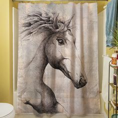 Run with the Wind Shower Curtain