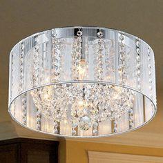 Addison 6-light White 16-inch Crystal Flush Mount