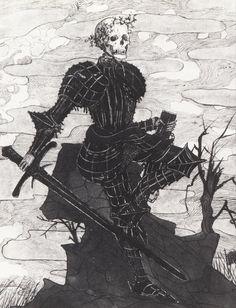 Carl Strathmann (1866-1939), Der Tod als Ritter