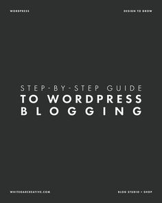 Free Guide to WordPress Blogging