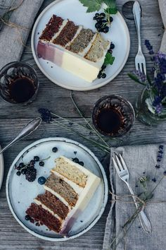 glutenfree lavender cake topped with berries for eat-a-rainbow