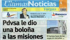 Últimas Noticias Vargas lunes 4 de julio de  2016