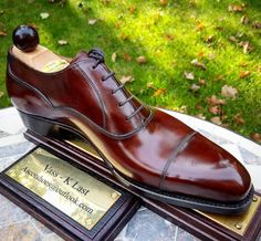 Ascot Shoes - MODEL: Old English LAST: K COLOUR: Gold Museum Calf from exclusive Du Puy tanner in France. SOLE: Single sole by JR of Germany CONSTRUCTION: Handwelted OPTIONAL EXTRA: Flushed metal toe inserts & Military Shine.