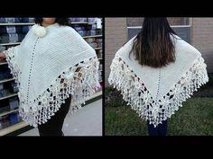 Como tejer un poncho a Crochet paso a paso TUTORIAL