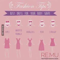 Mira cómo elegir un #vestido según tu tipo de #cuerpo | www.corbatasmexico.com.mx