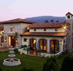 70 Most Popular Dream House Exterior Design Ideas is part of Modern architecture Facade House Plans - 70 Most Popular Dream House Exterior Design Ideas Hacienda Style Homes, Spanish Style Homes, Mexican Style Homes, Spanish Colonial, Spanish House Design, Fachada Colonial, Mexico House, Villa Plan, Design Exterior