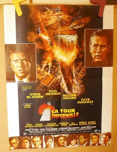 Excited to share the latest addition to my #etsy shop:  The Towering Inferno French Movie Poster - La Tour Infernale   Steve McQueen - Paul Newman                  http://etsy.me/2CYWqOl