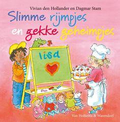 Drie boeken in één Slimme rijmpjes en gekke geheimpjes bestaat uit de Lisa & Jimmy-boeken Ssst, niet verklappen!, Wie rijmt er mee? en Slagroom op je snoet!. De verhalen zijn niet alleen grappig en herkenbaar voor kleuters, maar ook voor hun (groot)ouders. De boeken zijn rijk geillustreerd door Dagmar Stam. Of Lisa en Jimmy nu rijmen, de bakker helpen of een geheimpje proberen te bewaren: hun verhalen zijn een feest om (voor) te lezen!