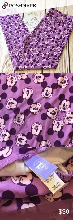 💜💜NWT silly Mickey Mouse in lilac purple NWT💜 💜Super cute and buttery soft NWT TC fits 12-22 sizes  🇺🇸Single Item is as pictured accessories and shoes not included.  🇺🇸See sizing chart for details.  🇺🇸No trades.  🇺🇸Bundle two or more items to save on shipping!  ❤️Colors may vary based on lighting such as darker or lighter.  😉Thank you for the likes, shares and kindness! 😘 LuLaRoe Pants Leggings