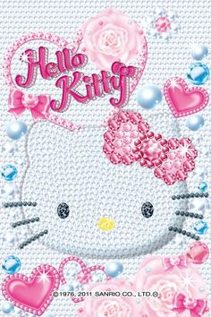 girl's favorite crystal hello kitty iphone wallpaper