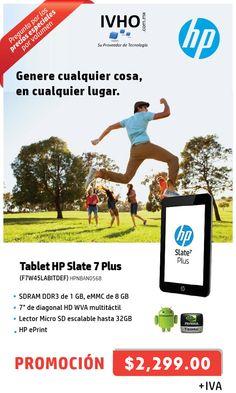 Genere cualquier cosa en cualquier lugar con la Tablet Hp Slate 7 Plus.