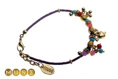 Bracelet with assorted beads and gold plated charms Mishka, Charms, Beads, Bracelets, Gold, Jewelry, Beading, Jewlery, Jewerly