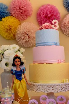 Make a FABRIC CAKE instead of a real one at a birthday party!  Great for a dramatic look when you don't really need or want that big a cake. Could do frosting on styrofoam too