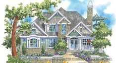 The rugged elevation of the Cascade Ridge blends regional influences with a powerful statement of style. Doric columns frame the entry of the Cascade Ridge. Cottage House Plans, Cottage Homes, House Floor Plans, Custom Home Plans, Custom Homes, Island Cooktop, Mountain House Plans, Hip Roof, Luxury House Plans