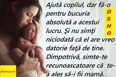 Osho: Arta delicată de a fi mamă Osho, Sigmund Freud, My Family, Parenting, Adoption, Baby, Families, Childcare, Newborn Babies