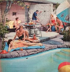 groovey vintage pool party