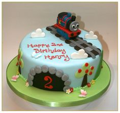 Cool Thomas The Train Birthday Cake - http://mycakedecors.com/cool-thomas-the-train-birthday-cake/