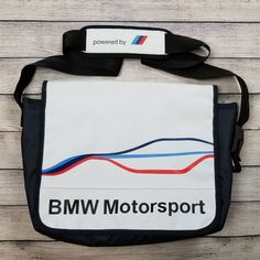a6f8778824df New Genuine BMW Motorsport Messenger Bag 80222285881  fashion  clothing   shoes  accessories