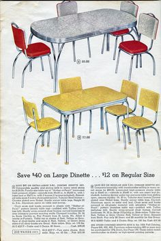 Montgomery Wards Catalogue 1960s Google Search Kitchen Chairs 50s Sets