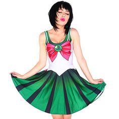 Harajuku sweet sailor moon green dress by violleville on Etsy