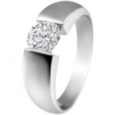 Rounded Tension Set Engagement Ring