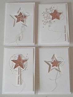Great Free handmade Paper Crafts Tips Paper crafts is usually as assorted as you need them for you to be. Via difficult to be able to basi Stampin Up Christmas, Christmas Tag, Christmas Projects, Handmade Christmas, Winter Cards, Holiday Cards, Christmas Family Feud, Star Cards, Beautiful Handmade Cards