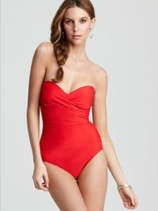 NWT MiracleSuit Bandeau One Piece $146 size 16 fits 14 too