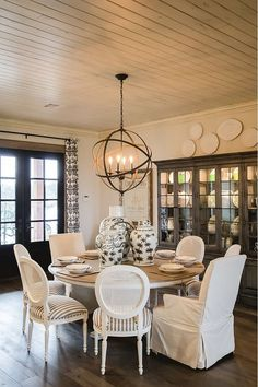 neutral interiors. ethan allen neutral dining room. avery dining